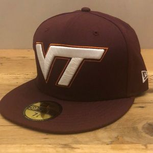 Virginia Tech Hokies New Era Flat Brim Hat 7 1/8